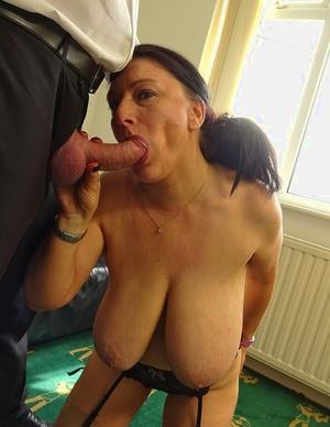 Older amateur with huge boobs Sabrina Jade gets torn up in garters and nylons
