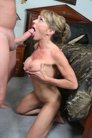 Hot mature woman Shayla Laveaux goes p2m during a hard fuck