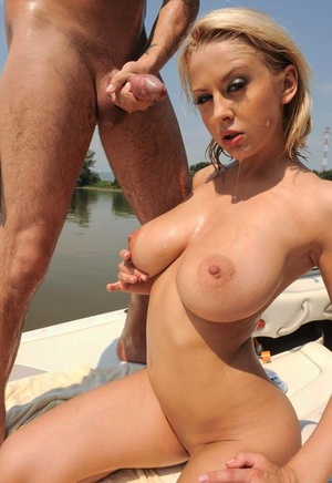 Boat trip sees hot blonde in swimsuit getting her ass reamed in the sun