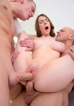 Slutty Clany gets analized and facialed in a Double penetration threesome
