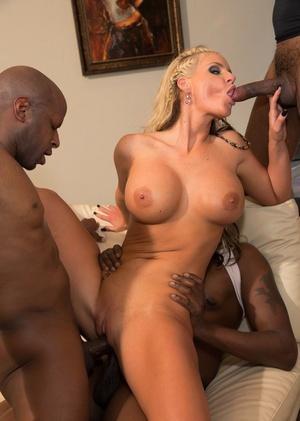 Big butt MILF Phoenix Marie and her girlfriends have an interracial gang-bang