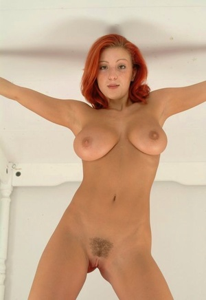 Fair skinned redhead dildos her filthy butthole while totally nude