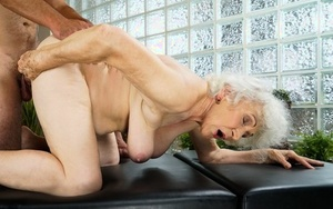 Naked oma finds herself getting fucked by her masseuse during a rubdown