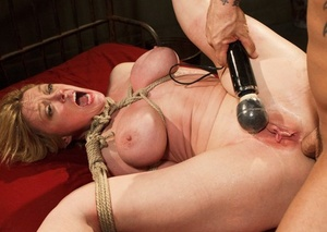 Promiscuous tied MILF Dee Williams penetrated indeed hard in the pink pucker