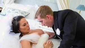 European MILF Simony Diamond taking anal invasion sex in wedding dress from big cock