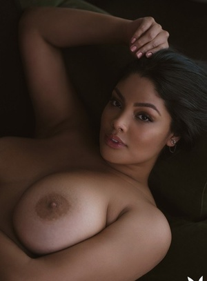 Solo model Jocelyn Corona bares her superb tits during a Playboy shoot