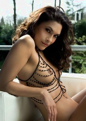 Brunette model Tanimara Teterissa strikes hot solo poses for Playboy spread