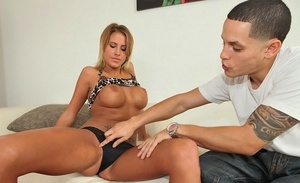 Chesty college girl Jessica Nyx gets fucked hard during the spring break