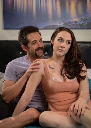 Big titted woman Chanel Preston takes a jizz flow on her hot ass after fucking