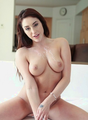 Naked ex-gf Christiana Cinn having clean-shaved pussy plundered by big dick