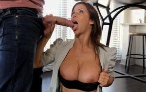 Hot older woman Alexis Fawx seduces a younger couple for a threesome