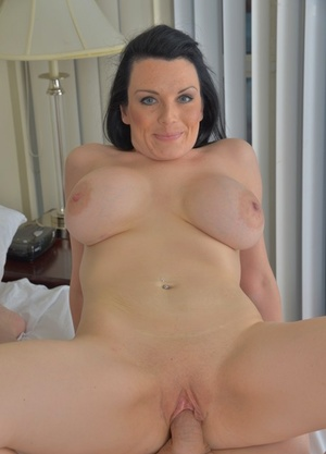Bald man got an extraordinaire hookup with dark-haired MILF with huge tits Stacey Ray