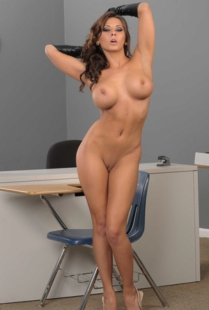 Amazing brown-haired Madison Ivy exposing her big tits and bubble but
