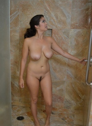 Phenomenal Mai Ly washes her exotic big Asian tits and pussy in the shower