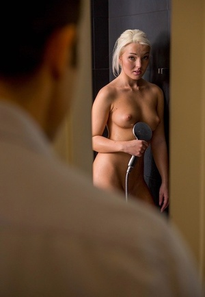 Naked amateur Lovita Fate gets seduced and fucked while taking a shower