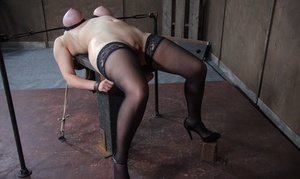 Tied up slave Iona Grace got brutally torn up by a dominant couple