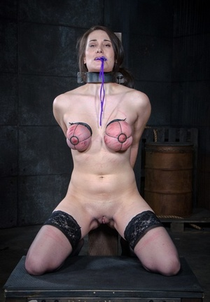 Busty submissive brunette Rylie Kay getting humiliated and tortured