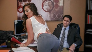 Office worker Maddy Oreilly offering up nice ass for ass-fuck sex from big cock