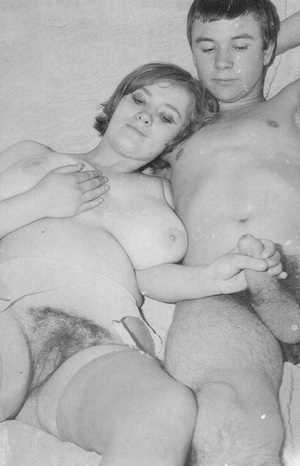 Big-chested hardcore vintage sluts getting their nipples sucked and pussies reamed