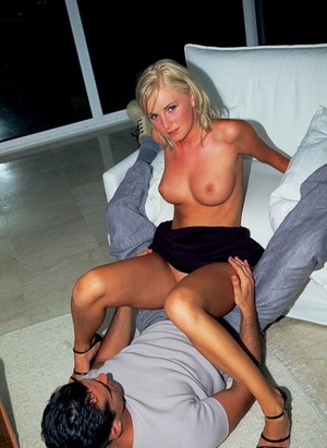 Horny blonde with big boobs Andy has anal lovemaking with her paramour