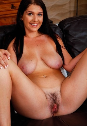 21-year-old April Dawn demonstrates her natural breasts, big ass, and pussy