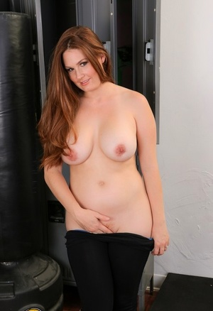 Thick female Allison Moore undresses and fucks her sport's trainer